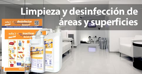 Limpieza y desinfeccion de superficies extensas. Pisos, paredes y techos.