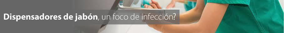 Dispensadores de jabón reutilizables, un foco de infección.