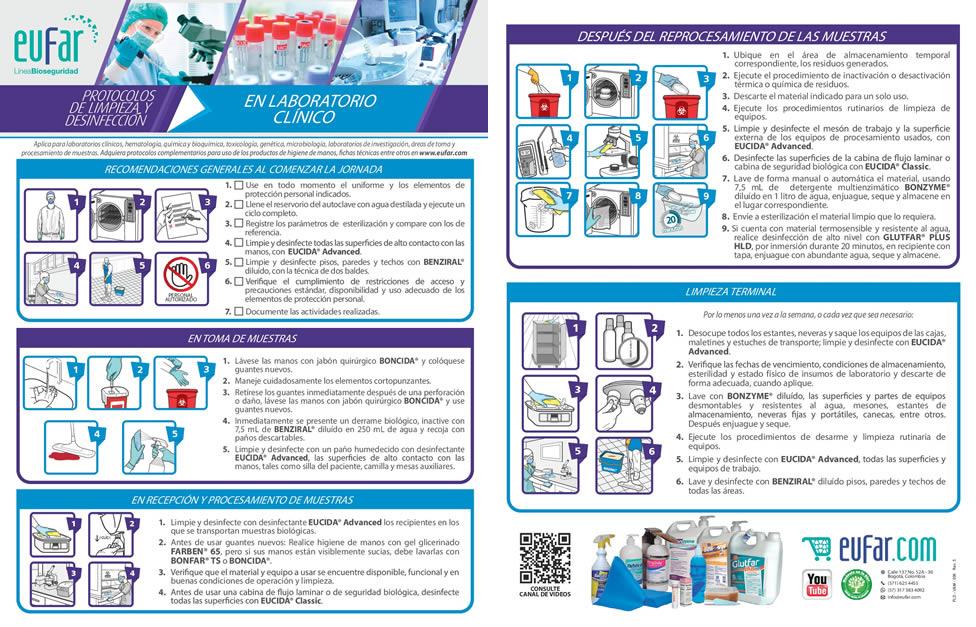 Protocolo limpieza y desinfección laboratorio clínico