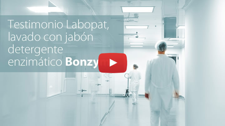 Testimonio de laboratorio Labopat de uso de detergente Bonzyme