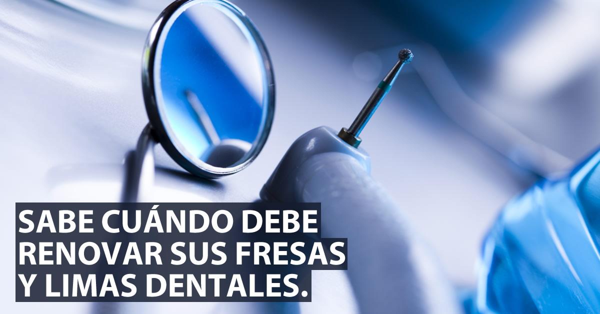 Parámetros de uso y reúso de fresas y limas odontológicas